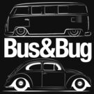 VW Bus & Beetle Logo by velocitygallery