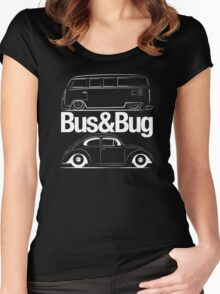 VW Bus & Beetle Logo Women's Fitted Scoop T-Shirt