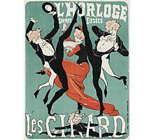Jules Cheret - L Horloge Les Girard. Dancer painting: dance, ballet, dancing woman, ballerina, tutu, femine, women, dancer, disco, dancers, girls Photographic Print