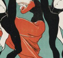 Jules Cheret - L Horloge Les Girard. Dancer painting: dance, ballet, dancing woman, ballerina, tutu, femine, women, dancer, disco, dancers, girls Sticker