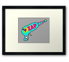 Blue Zap Framed Print