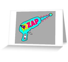 Blue Zap Greeting Card