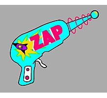 Blue Zap Photographic Print