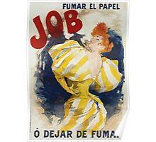 Jules Cheret - O  Dejar De Fumar Cigar Advertisement Poster. Dancer painting: dance, ballet, dancing woman, ballerina, tutu, femine, women, dancer, disco, dancers, girls Poster