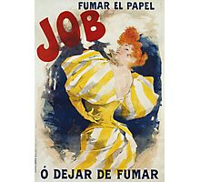 Jules Cheret - O  Dejar De Fumar Cigar Advertisement Poster. Dancer painting: dance, ballet, dancing woman, ballerina, tutu, femine, women, dancer, disco, dancers, girls Photographic Print