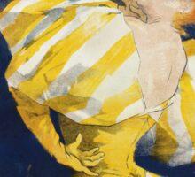 Jules Cheret - O  Dejar De Fumar Cigar Advertisement Poster. Dancer painting: dance, ballet, dancing woman, ballerina, tutu, femine, women, dancer, disco, dancers, girls Sticker