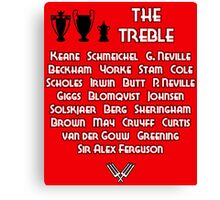 Manchester United 1999 Treble Winners Canvas Print