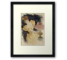 Jules Cheret - Saxoleine (Advertisement For Lamp Oil). Dancer painting: dance, ballet, dancing woman, ballerina, tutu, femine, women, dancer, disco, dancers, girls Framed Print