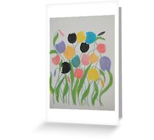 A Gathering of Tulips Greeting Card