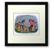 Friendship is Shiny  Framed Print