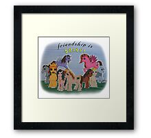 Friendship is Shiny  Framed Print