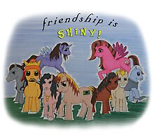 Friendship is Shiny  Photographic Print