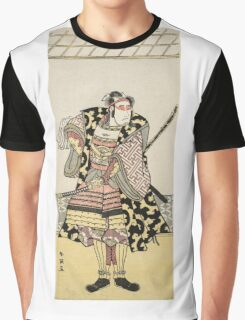 Katsukawa Shun Ei - Actor Takinata Kasen As Samurai. samurai portrait: samurai, warrior, weapon, nobility,  traditional costumes, masculine, boyfriend, smile, manly, kimono,  travel Graphic T-Shirt