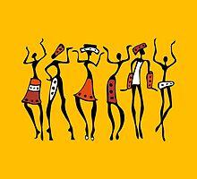 African dancers. by Katyau