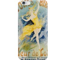 Jules Cheret - Folies Bergere Fleur De Lotus Poster. Dancer painting: dance, ballet, dancing woman, ballerina, tutu, femine, women, dancer, disco, dancers, girls iPhone Case/Skin