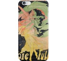 Jules Cheret - Folies Bergeres Loie Fuller France. Dancer painting: dance, ballet, dancing woman, ballerina, tutu, femine, women, dancer, disco, dancers, girls iPhone Case/Skin