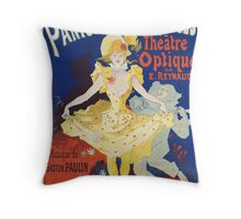 Jules Cheret - French Poster For Early Motion Picture Pantommes Lumineuses. Dancer painting: dance, ballet, dancing woman, ballerina, tutu, femine, women, dancer, disco, dancers, girls Throw Pillow