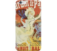 Jules Cheret - Jardin De Paris. Dancer painting: dance, ballet, dancing woman, ballerina, tutu, femine, women, dancer, disco, dancers, girls iPhone Case/Skin