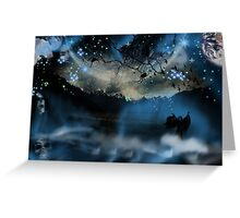 The Blue Mists Of Time Greeting Card