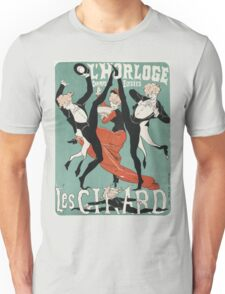 Jules Cheret - L Horloge Les Girard. Dancer painting: dance, ballet, dancing woman, ballerina, tutu, femine, women, dancer, disco, dancers, girls Unisex T-Shirt