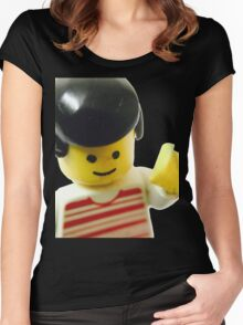 Retro Lego Minifigure Women's Fitted Scoop T-Shirt