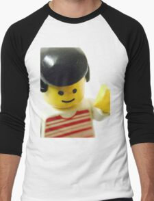 Retro Lego Minifigure Men's Baseball ¾ T-Shirt