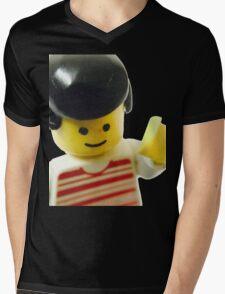 Retro Lego Minifigure Mens V-Neck T-Shirt