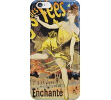 Jules Cheret - Le Pays Des Fees Poster. Dancer painting: dance, ballet, dancing woman, ballerina, tutu, femine, women, dancer, disco, dancers, girls iPhone Case/Skin