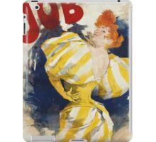 Jules Cheret - O  Dejar De Fumar Cigar Advertisement Poster. Dancer painting: dance, ballet, dancing woman, ballerina, tutu, femine, women, dancer, disco, dancers, girls iPad Case/Skin