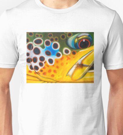 Brown Trout on Parachute Adams Unisex T-Shirt