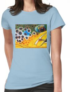 Brown Trout on Parachute Adams Womens Fitted T-Shirt