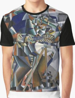 Kazimir Malevich - The Knife Grinder Or Principle Of Glittering. Abstract painting: art, geometric, expressionism, composition, lines, forms, creative fusion, spot, shape, illusion, fantasy future Graphic T-Shirt