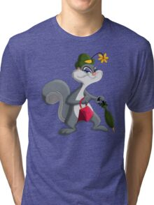 Slappy Squirrel Tri-blend T-Shirt