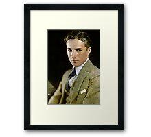 Charlie Chaplin, ca. 1920 Framed Print