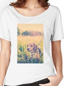 Happy Beagle Women's Relaxed Fit T-Shirt