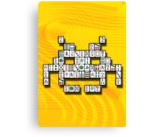 Mahjong Invader Canvas Print