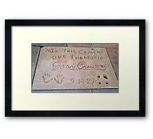 Joan Crawford: May This Cement Our Friendship Framed Print