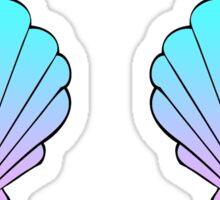 Mermaid Shells Blue-Pink Ombre Sticker