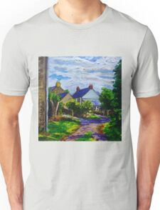 'A Turn on Town Lane,  Mullaghdubh, Islandmagee, County Antrim.' Unisex T-Shirt