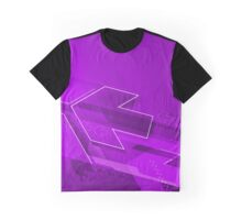 Purple dynamic arrows illustration original design Graphic T-Shirt