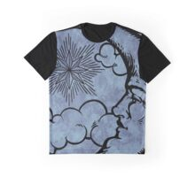 Moon vintage blue grey Graphic T-Shirt