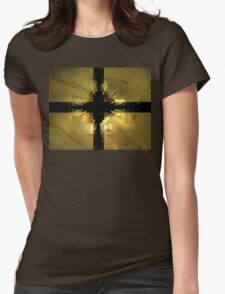 Gold Box Clover Womens Fitted T-Shirt