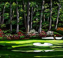 "Augusta National 12th ""Golden Bell"" by brewArt"