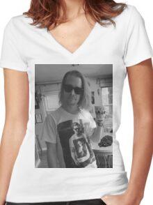 Macaulay Culkin Wearing Gosling Wearing Self Women's Fitted V-Neck T-Shirt