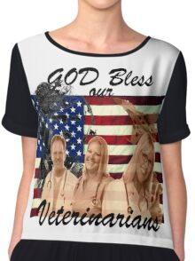 God Bless Our Vets - ONE:Print Chiffon Top