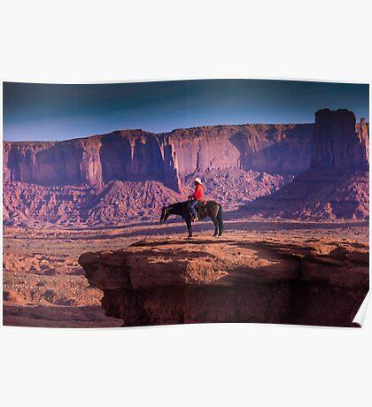 Monument Valley Marlboro Man Poster