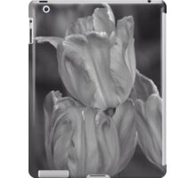 Tulips, Black and White iPad Case/Skin