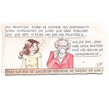 Comic - Grandmother (in Portuguese) Photographic Print