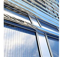 modern contemporary tower detail closup of facade glass pannels Photographic Print