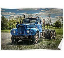 Mack B-61 Thermodyne Semi Tractor Truck Poster